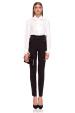 Elegant slim trousers with waist detail