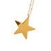 Golden necklace with stars