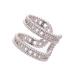 Ring with zircon stones