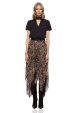 Leopard print asymmetrical skirt