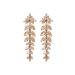 Crystals encrusted drop earrings