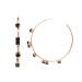 Black crystals hoop earrings