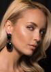 Gunmetal crystal earrings