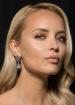 Zircon crystal earrings in form of a tear