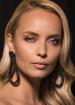 Black tear-shaped earrings