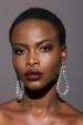 Silver tear-shaped earrings