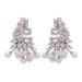 Zircon crystal earrings with pearl detail