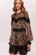 Leopard print lace dress