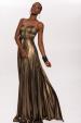 Shiny stones metallic dress