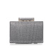 Silver thread clutch with jewellery lock