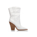 Croc print western boots