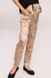 Tapered printed satin trousers