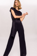 Viscose jumpsuit with waistband