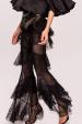 Transparent lace ruffles pants