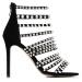 Sandale cu cristale aplicate