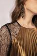 Crystal embellished geometrical earrings