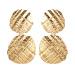 Textured linked shell earrings