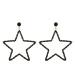 Cercei in forma de stea cu cristale