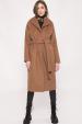 Palton din lana cu cordon