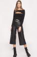 Pantaloni culotte din piele ecologica