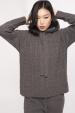 Hanorac tricotat cu gluga