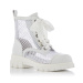Mesh-panelled leather ankle boots