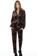 Leopard-print velvet pants