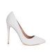 Pantofi stiletto cu glitter alb