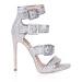 Sandale argintii cu toc