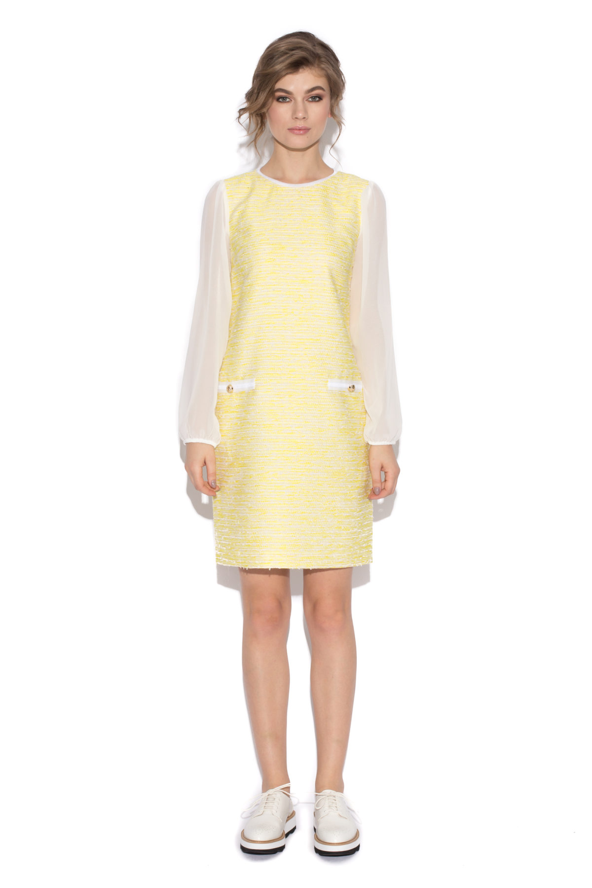 office dress with semiopaque sleeves