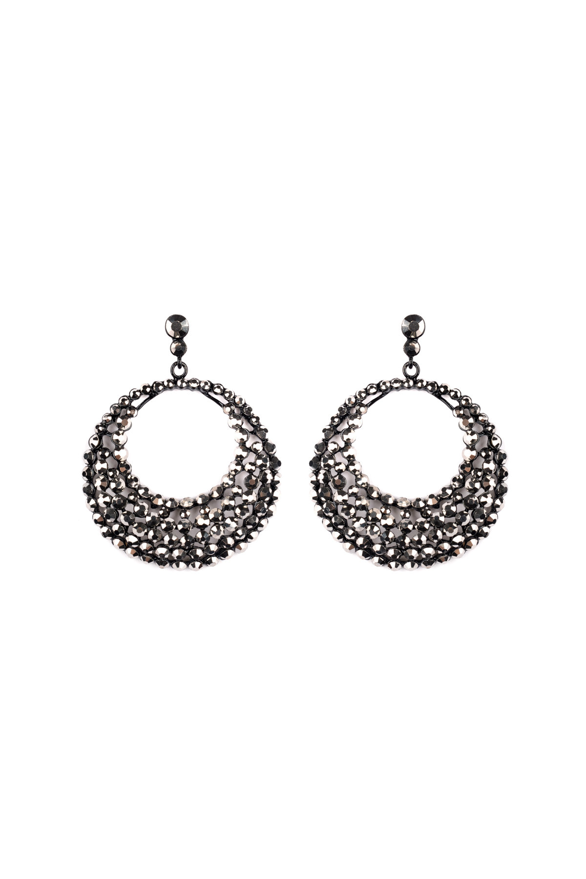 products noir glitzy jewelry earrings caviar gunmetal
