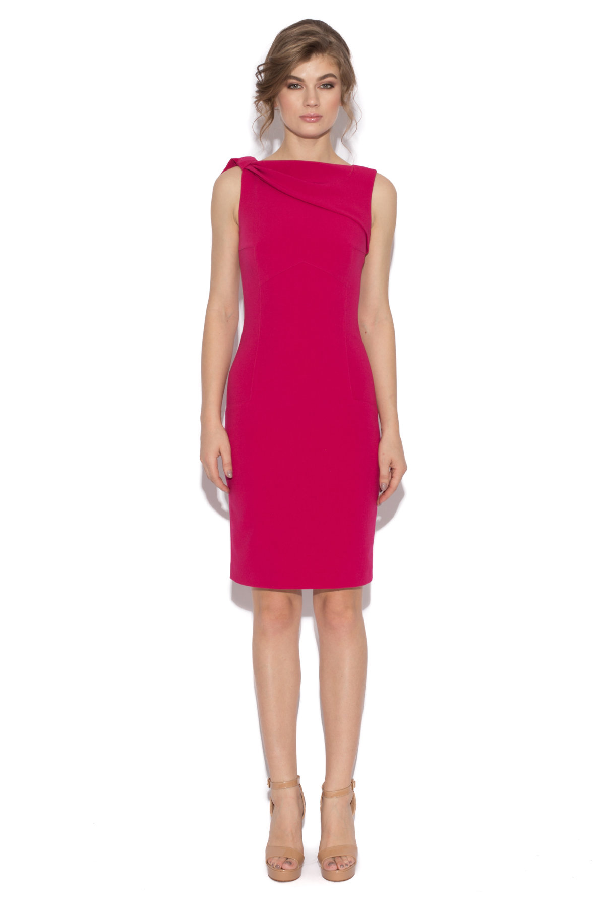 Fitted burgundy cocktail dress | RC9335 | NISSA