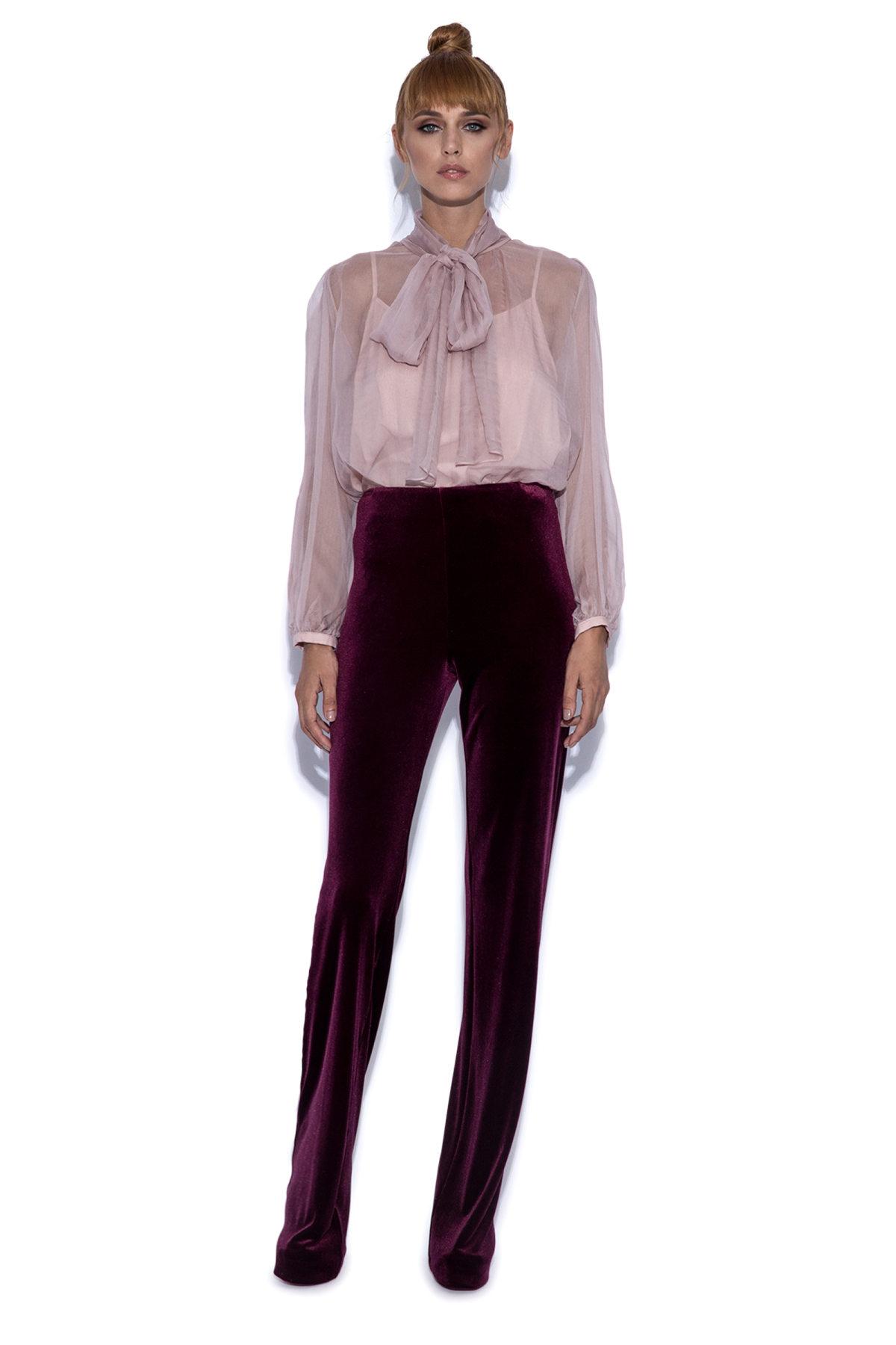 Velvet Burgundy P9086 Burgundy Nissa Trousers Velvet 0xxqZwg7