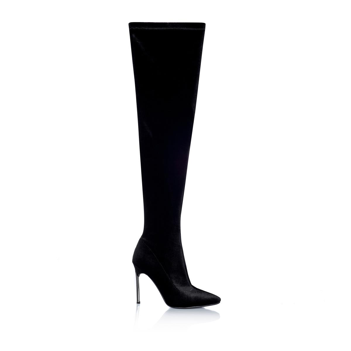 NISSA Velvet Long Boots IOapuB1Kd