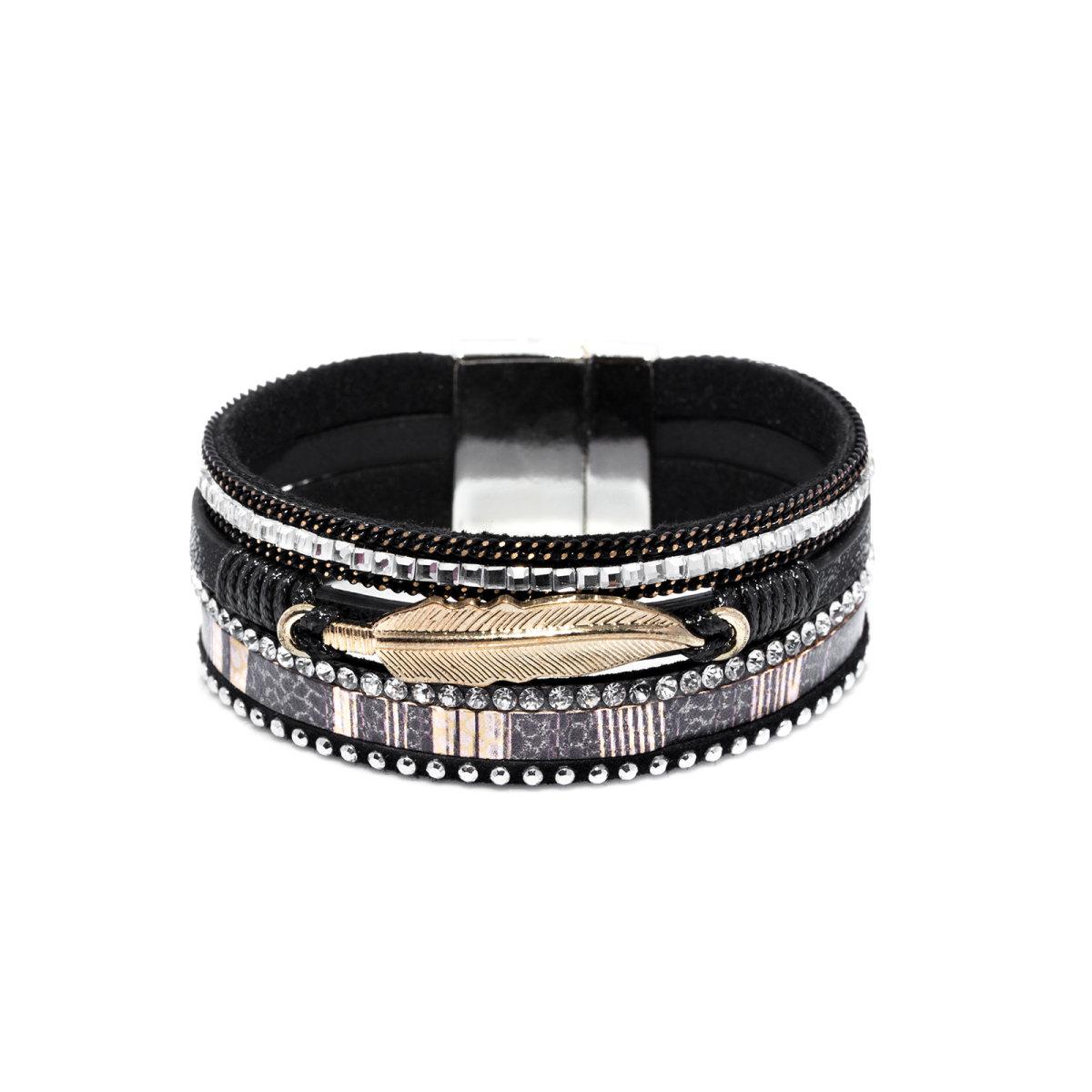 59716d87ef84 Bracelet with metallic feather