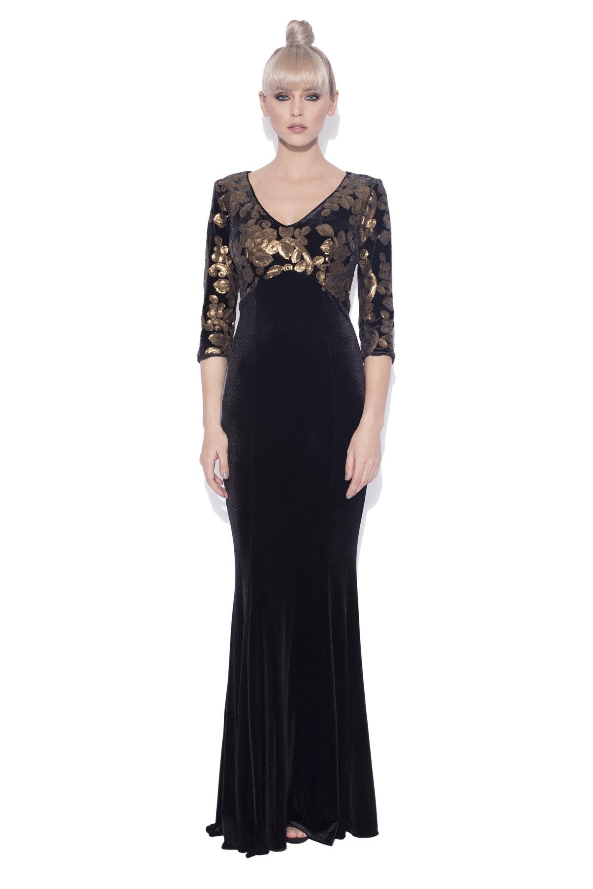77f91b3e8a8d7 Velvet dress with sequin detail | rs9935 | NISSA