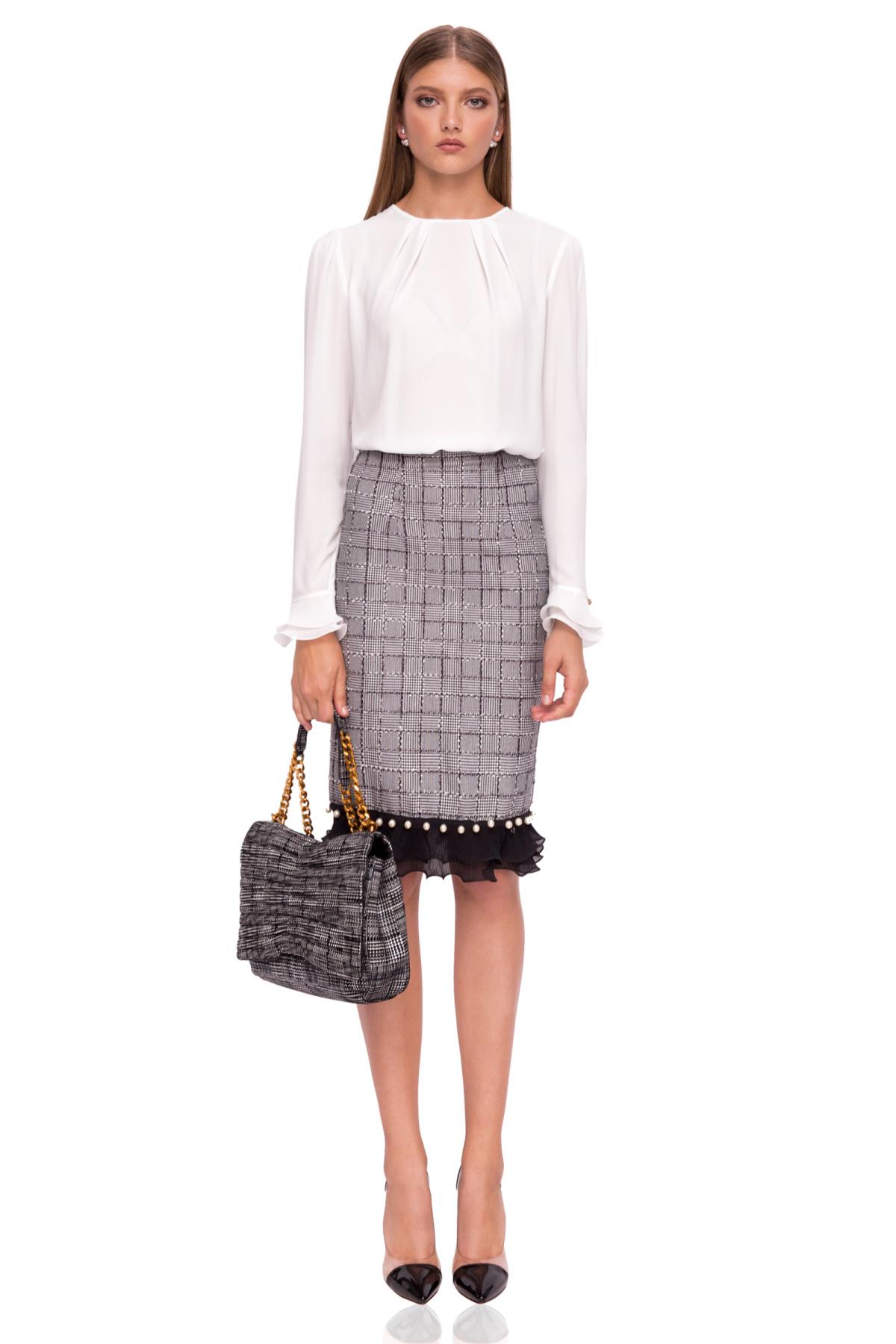 4a68c0b63f Midi skirt with ruffles | f9998 | NISSA